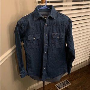 Wrangler Pearl Snap Shirt Size 15.5